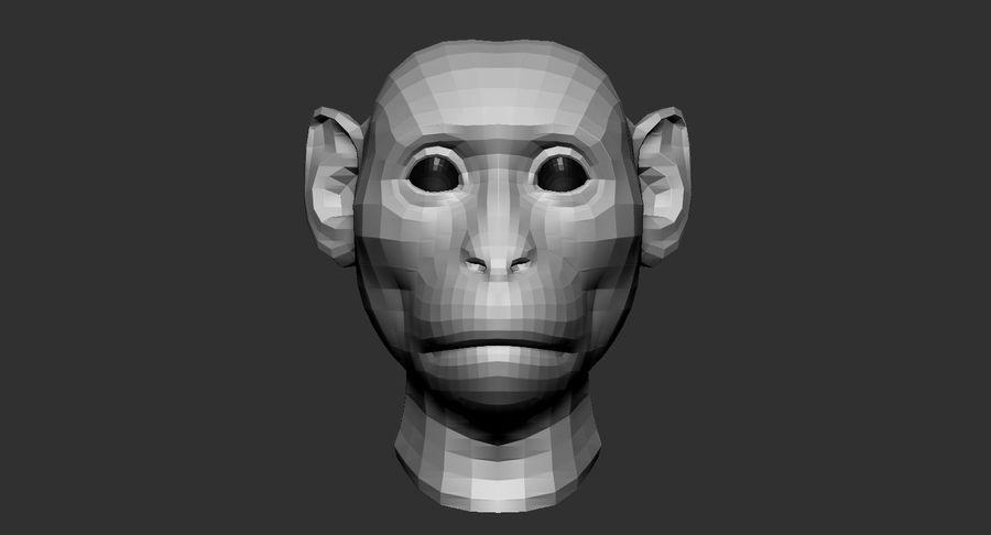 Monkey Head Base 2019 royalty-free 3d model - Preview no. 3
