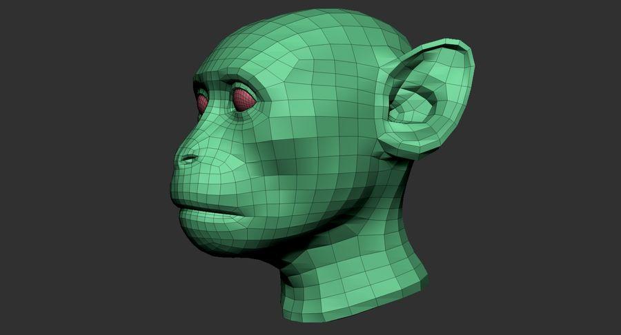 Monkey Head Base 2019 royalty-free 3d model - Preview no. 11