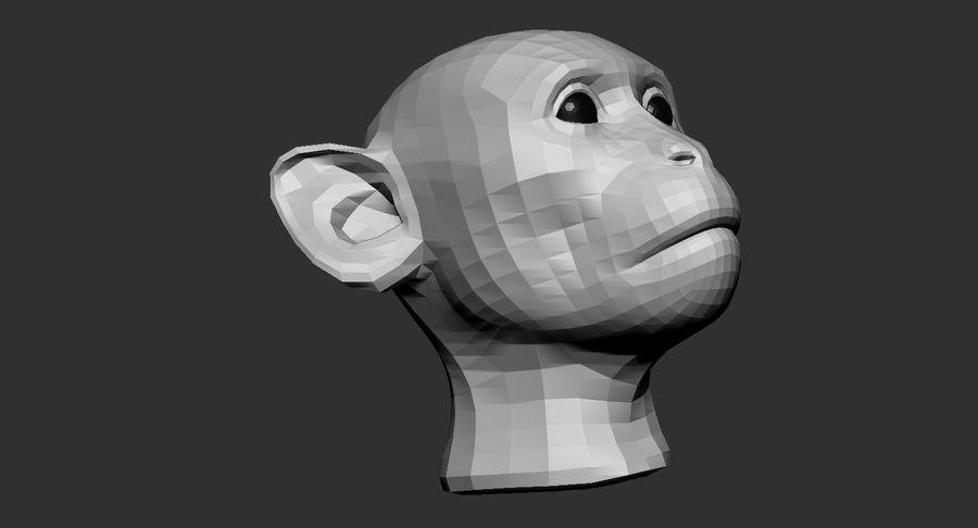 Monkey Head Base 2019 royalty-free 3d model - Preview no. 8