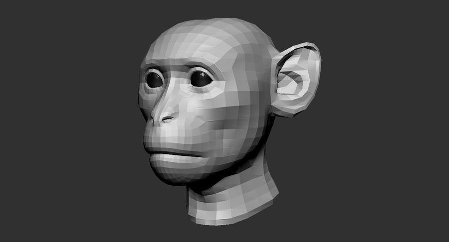 Monkey Head Base 2019 royalty-free 3d model - Preview no. 2