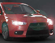 Mitsubishi Lancer Evolution Evo X 3d model