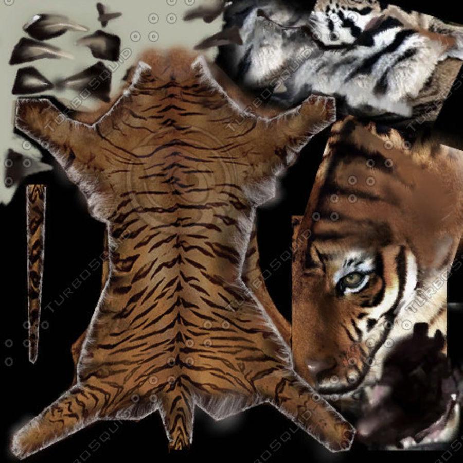 Tiger Carpet royalty-free 3d model - Preview no. 11