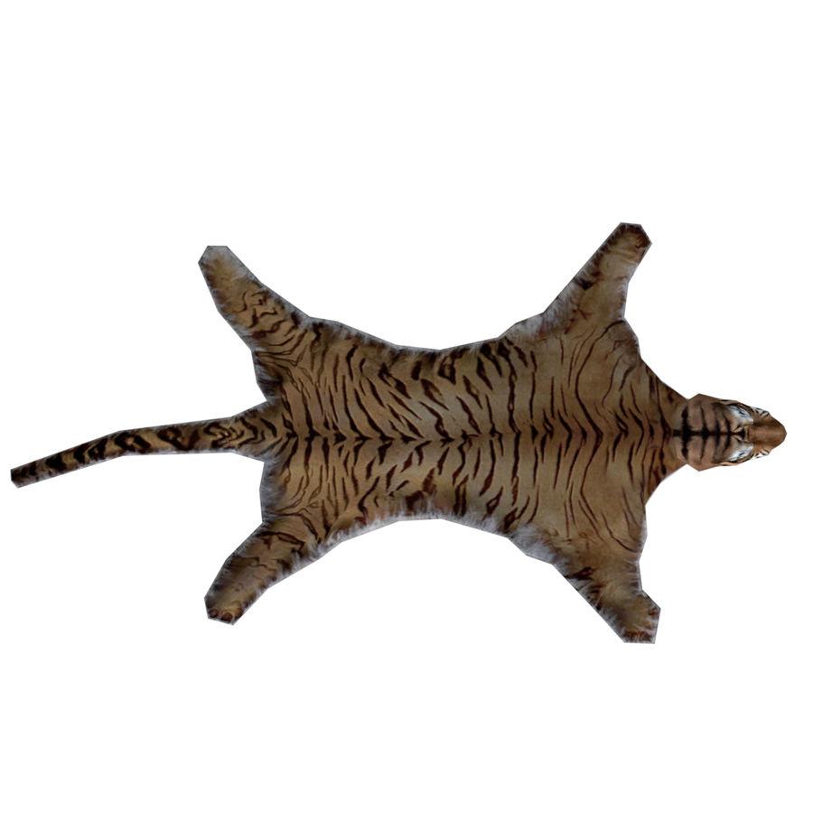 Tiger Carpet royalty-free 3d model - Preview no. 3