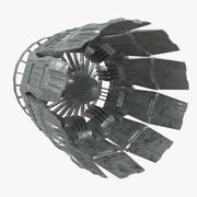 航天器涡轮排气 3d model