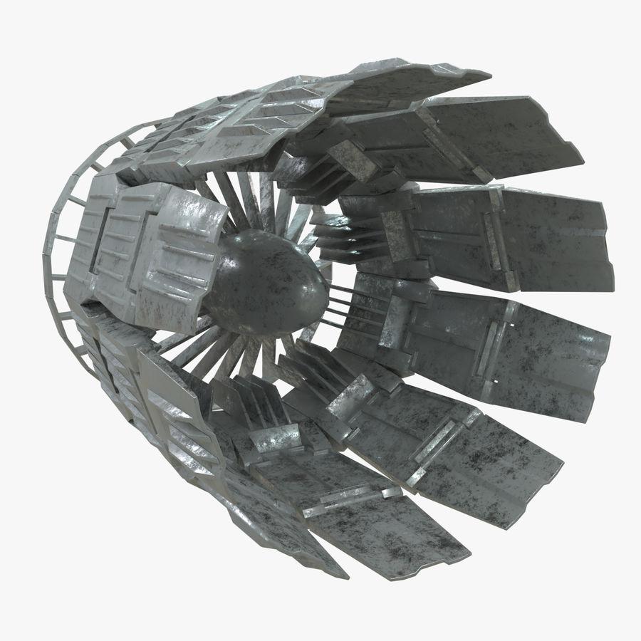 航天器涡轮排气 royalty-free 3d model - Preview no. 1