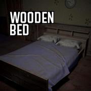 Houten bed 3d model