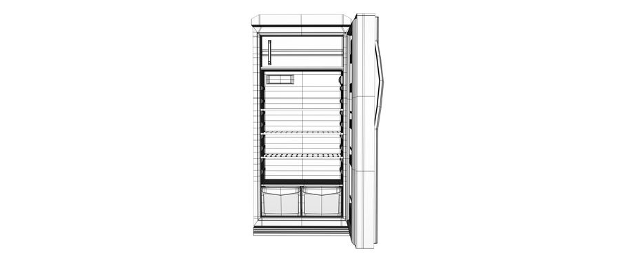 Stylised Fridge royalty-free 3d model - Preview no. 7