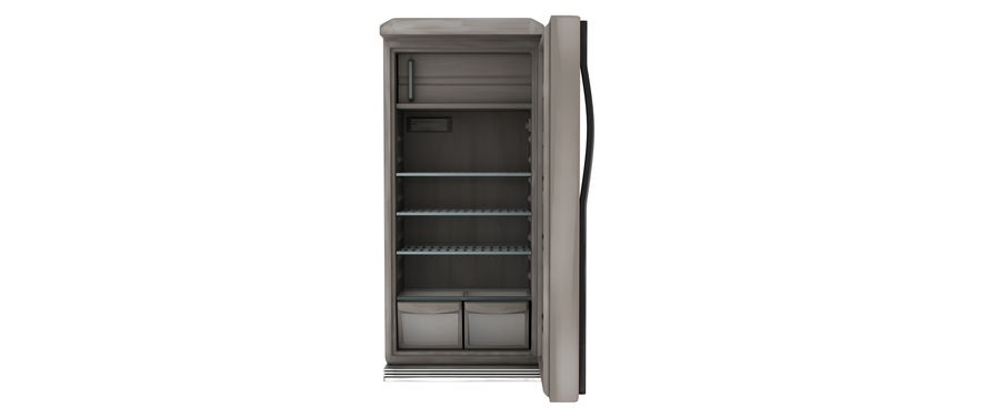Stylised Fridge royalty-free 3d model - Preview no. 4