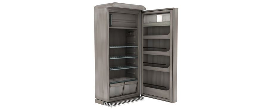 Stylised Fridge royalty-free 3d model - Preview no. 3