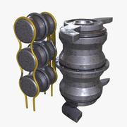 发动机压力箱 3d model