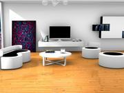 Fancy interiör 3d model