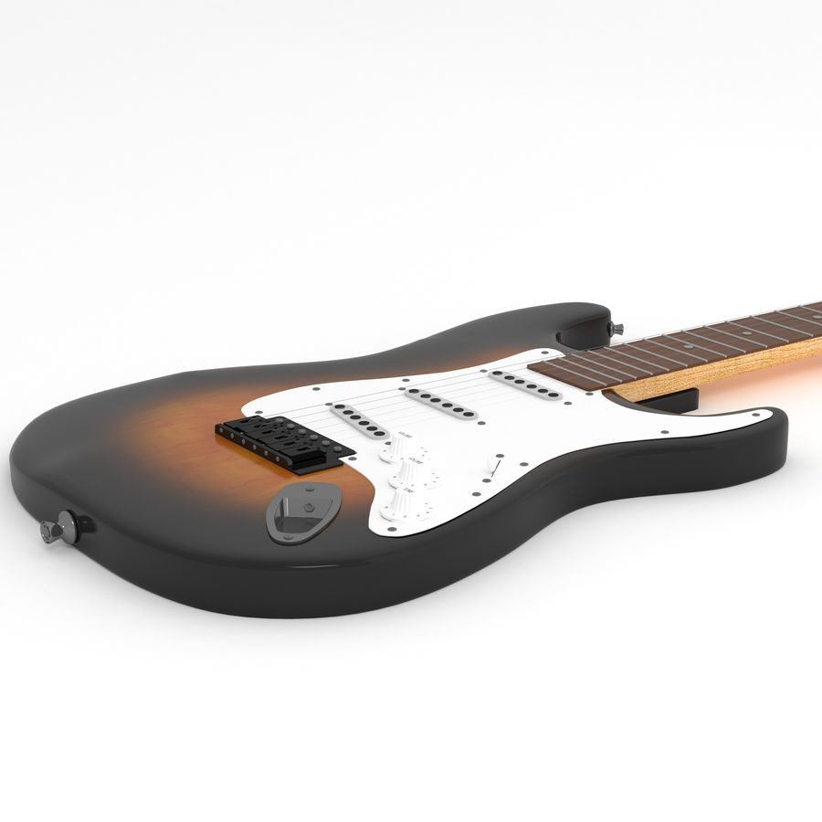 Guitare royalty-free 3d model - Preview no. 3
