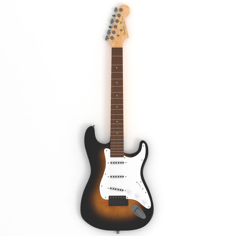 Guitare royalty-free 3d model - Preview no. 4