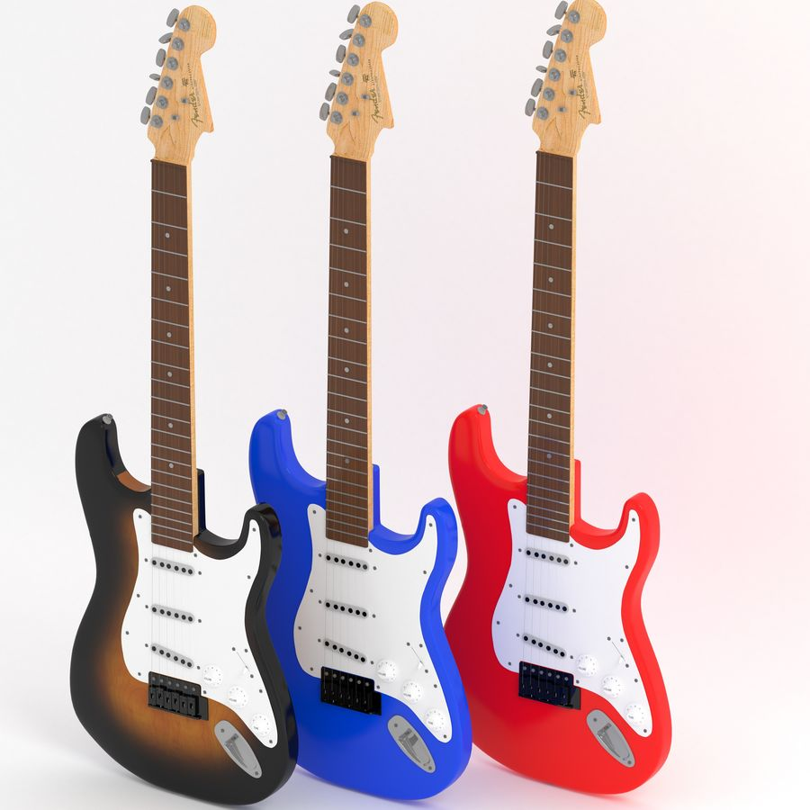 Gitarre royalty-free 3d model - Preview no. 1