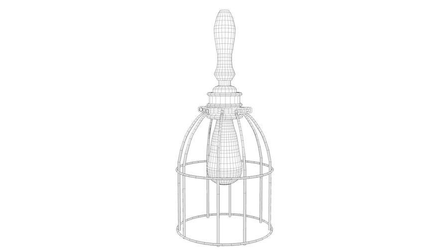 Lâmpada de gaiola com lâmpada vintage royalty-free 3d model - Preview no. 2