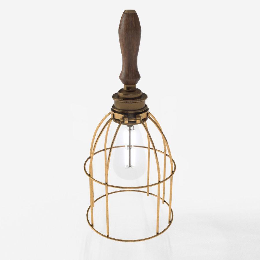 Lâmpada de gaiola com lâmpada vintage royalty-free 3d model - Preview no. 1