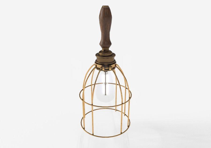 Lâmpada de gaiola com lâmpada vintage royalty-free 3d model - Preview no. 11