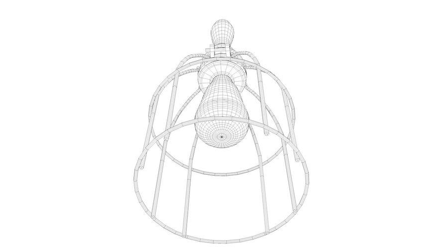 Lâmpada de gaiola com lâmpada vintage royalty-free 3d model - Preview no. 6