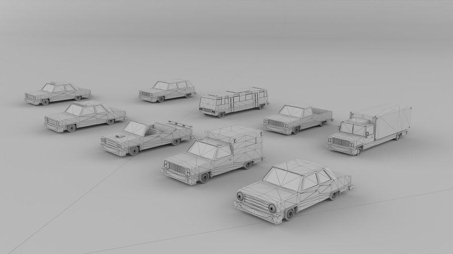 简易车城 royalty-free 3d model - Preview no. 2