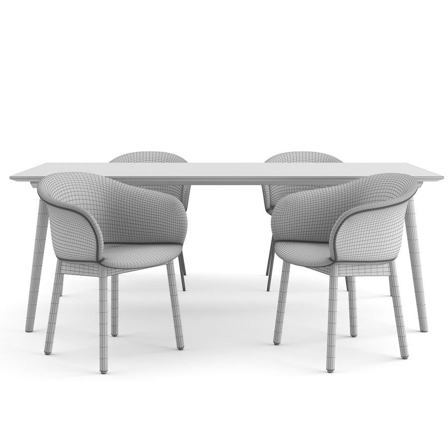 """Jedenaście krzeseł i stolik """"Pomiędzy"""" i tradycja royalty-free 3d model - Preview no. 6"""