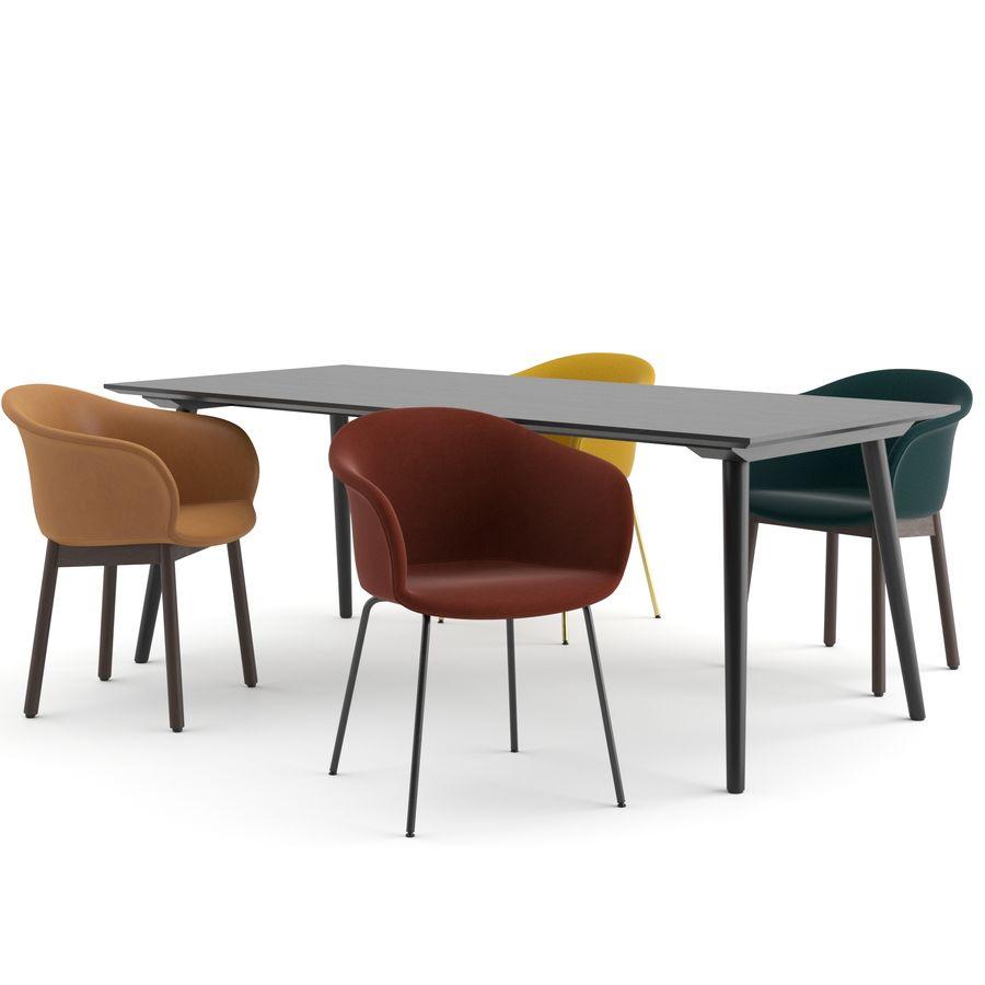 """Jedenaście krzeseł i stolik """"Pomiędzy"""" i tradycja royalty-free 3d model - Preview no. 1"""