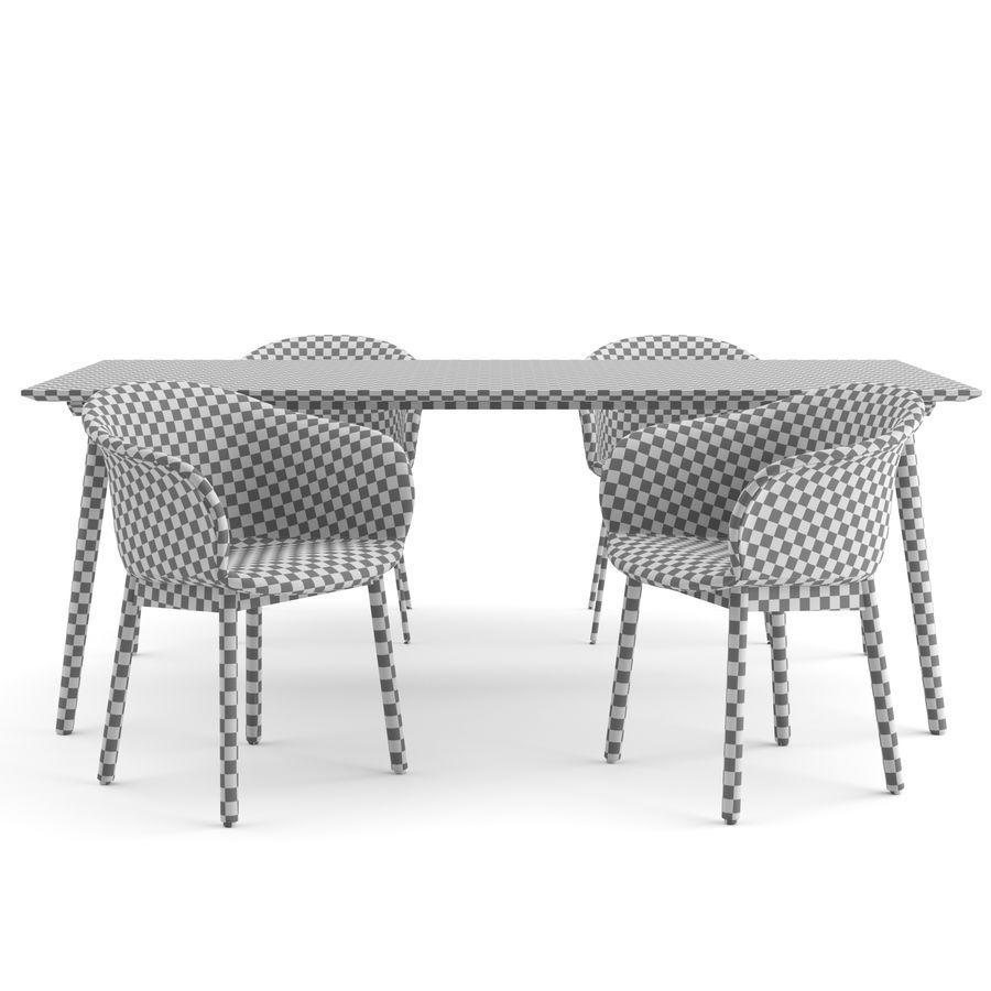 """Jedenaście krzeseł i stolik """"Pomiędzy"""" i tradycja royalty-free 3d model - Preview no. 5"""