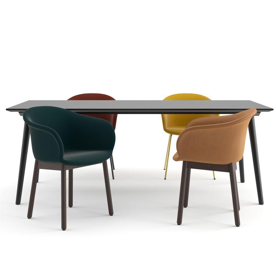 """Jedenaście krzeseł i stolik """"Pomiędzy"""" i tradycja royalty-free 3d model - Preview no. 3"""