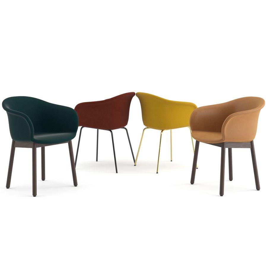 """Jedenaście krzeseł i stolik """"Pomiędzy"""" i tradycja royalty-free 3d model - Preview no. 4"""