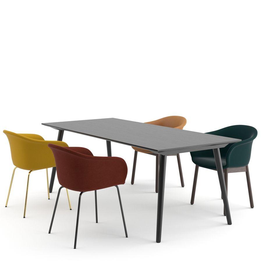 """Jedenaście krzeseł i stolik """"Pomiędzy"""" i tradycja royalty-free 3d model - Preview no. 2"""