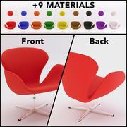 Łabędź Krzesło 3d model