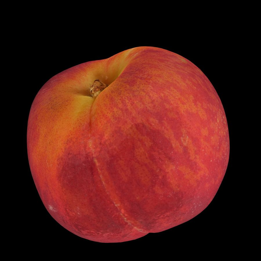 Peach fruit royalty-free 3d model - Preview no. 2