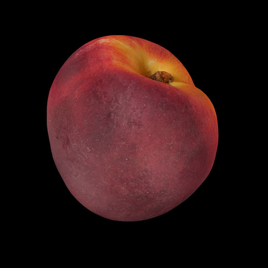 Peach fruit royalty-free 3d model - Preview no. 6