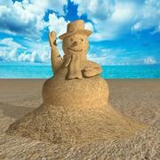 Scultura di sabbia 3d model
