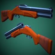 Stylized HS-12 Shotgun Low Poly 3d model