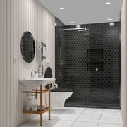 modern small bathroom 3d model