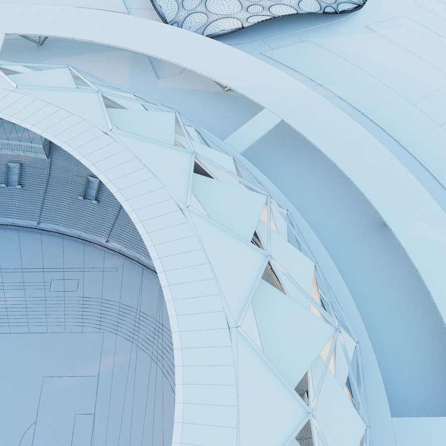 stadion royalty-free 3d model - Preview no. 6