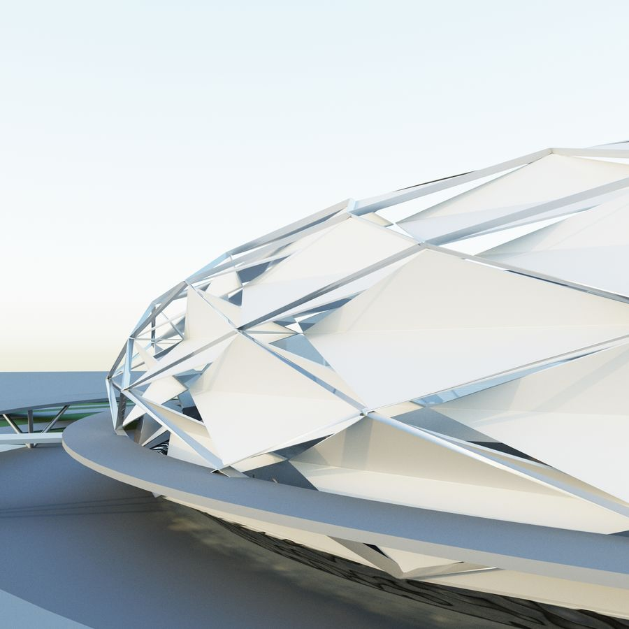 stadion royalty-free 3d model - Preview no. 4