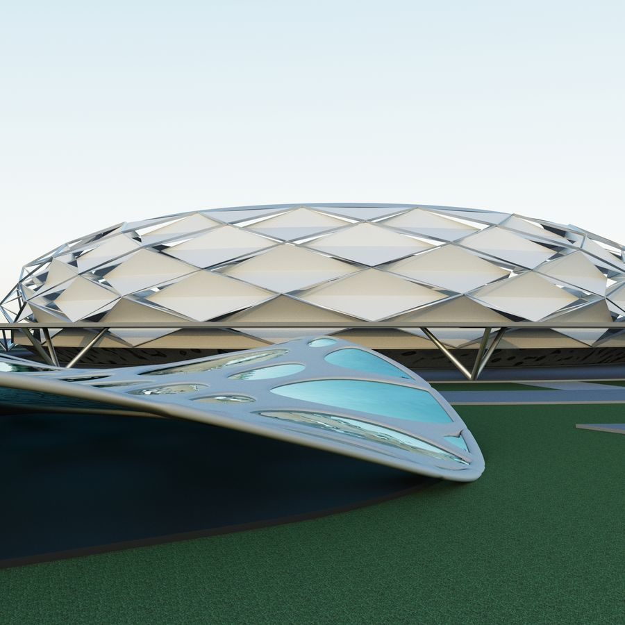 stadion royalty-free 3d model - Preview no. 1