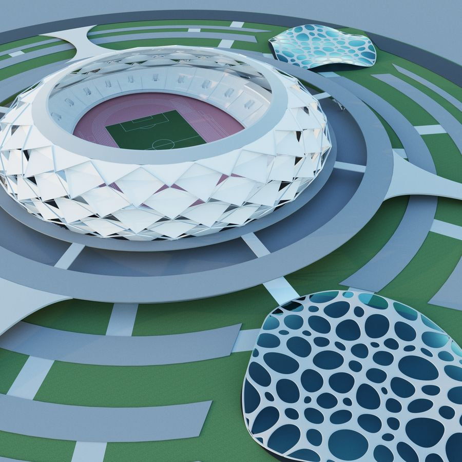 stadion royalty-free 3d model - Preview no. 2