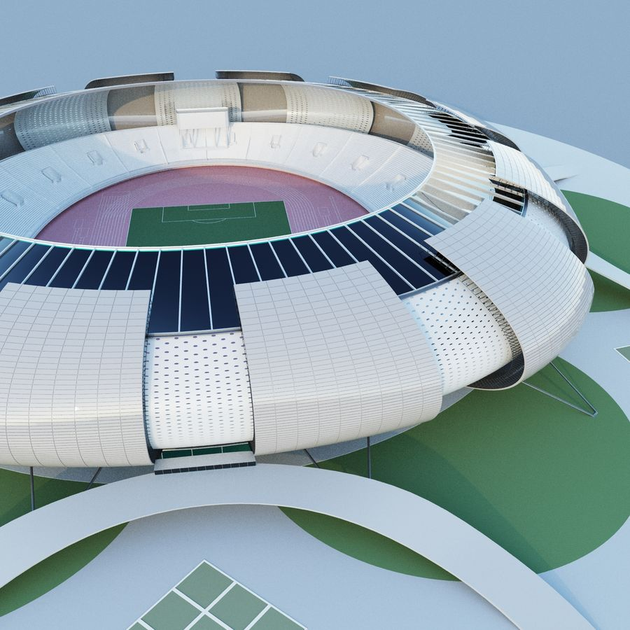stadium 04 royalty-free 3d model - Preview no. 2
