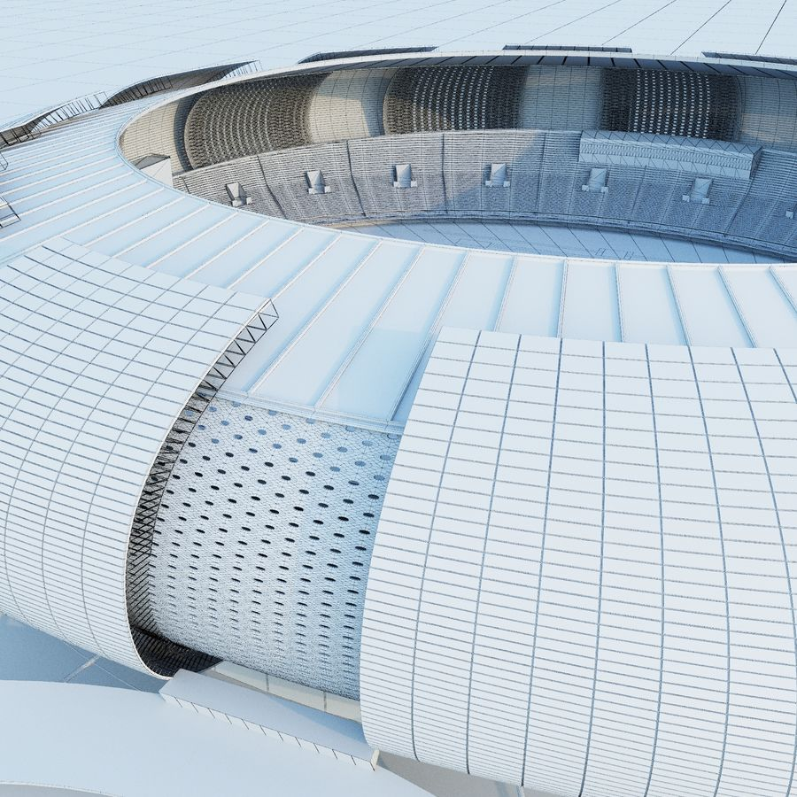 stadium 04 royalty-free 3d model - Preview no. 8