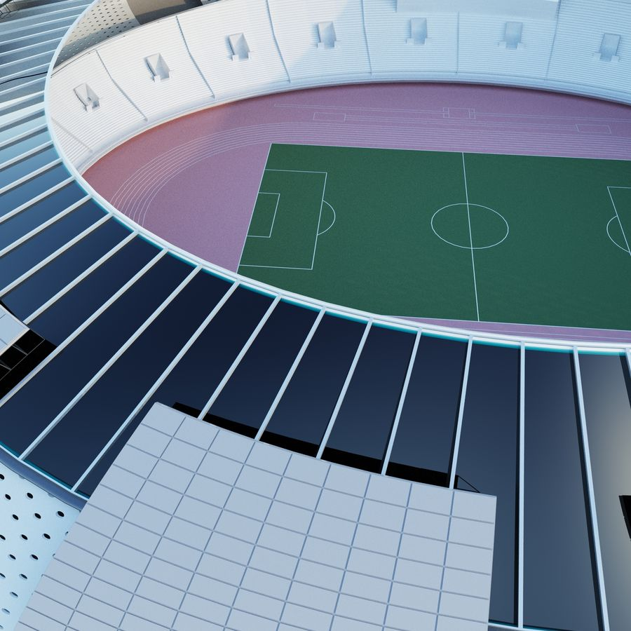 stadium 04 royalty-free 3d model - Preview no. 5