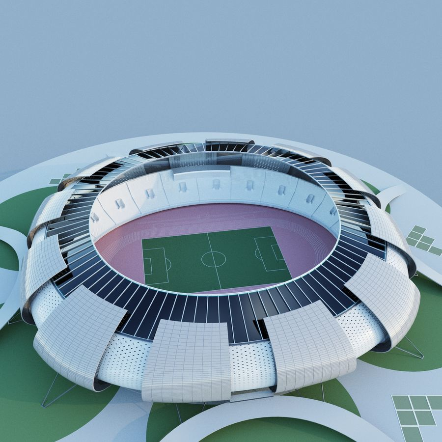 stadium 04 royalty-free 3d model - Preview no. 4