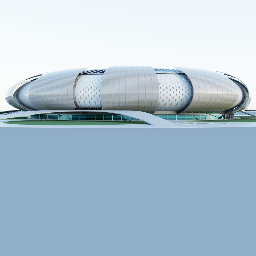 stadium 04 royalty-free 3d model - Preview no. 6