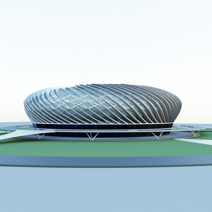 Stadium 09 royalty-free 3d model - Preview no. 5