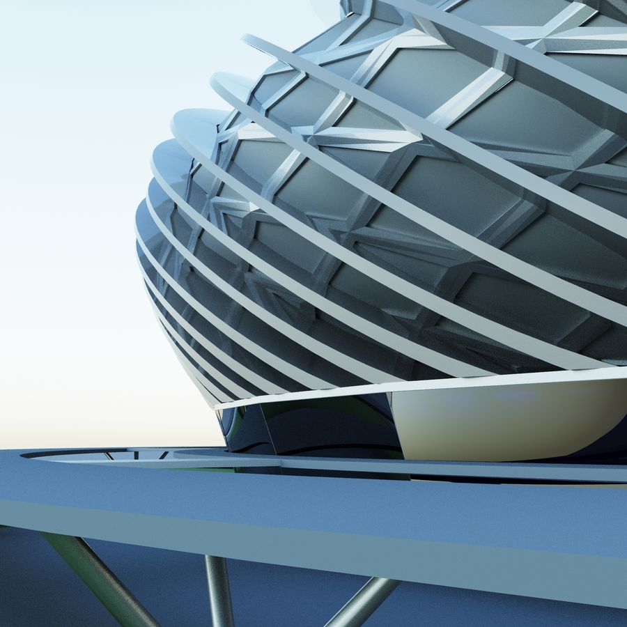 Stadium 09 royalty-free 3d model - Preview no. 1