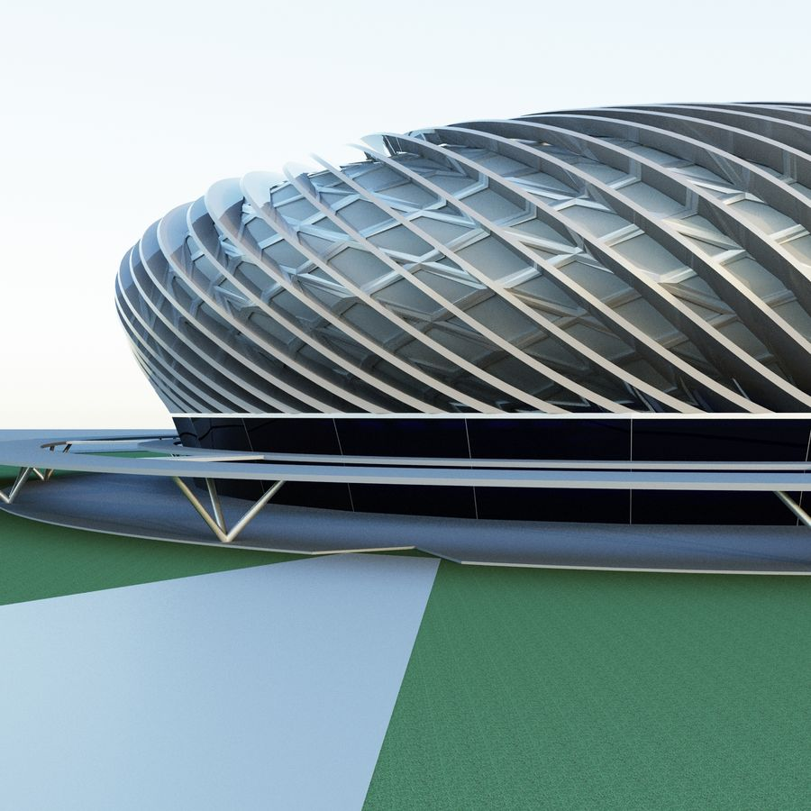 Stadium 09 royalty-free 3d model - Preview no. 3
