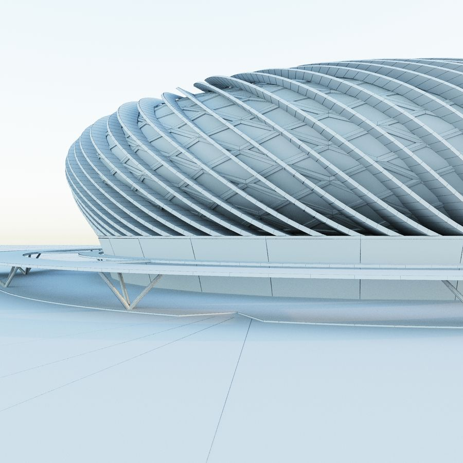 Stadium 09 royalty-free 3d model - Preview no. 10