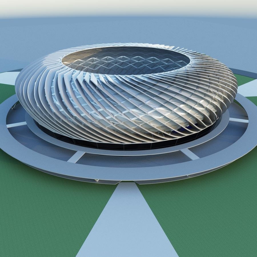 Stadium 09 royalty-free 3d model - Preview no. 2