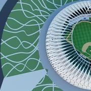 Stadion baseballowy 07 3d model